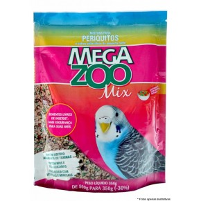 Ração Mega Zoo Mix Periquitos 350g
