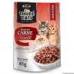 Three Cats  Sache iscas de Carne ao Molho 85g