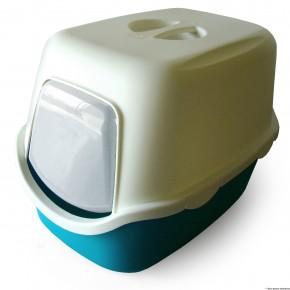 Banheiro p/Gato modelo quadrado c/filtro (Cathy) Verde Claro