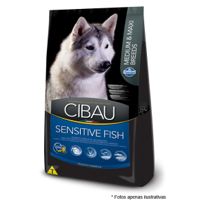 Ração Cibau Adultos Sensitive Fish Medium e Max Breeds 12kg