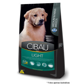 Ração Cibau Adultos Light Medium e Max Breeds 12kg