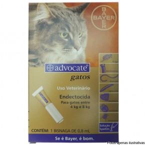 Advocate Anti pulgas e Vermes para gatos de 4 a 8 kg