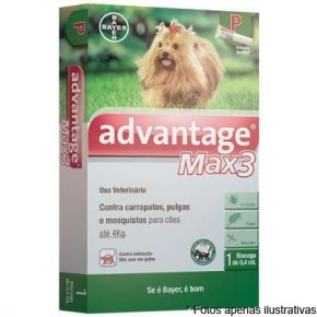 Advantage Max 3 até 4 kg
