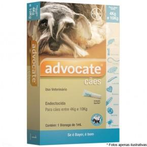 Advocate Anti pulgas e Vermes para cães de 4 a 10 kg