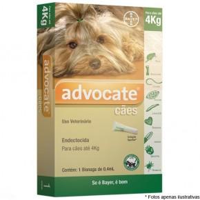 Advocate Anti pulgas e Vermes para cães até 4 kg