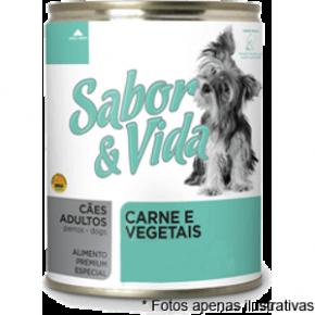 Sabor & Vida Lata Cães Adultos Carne  e Vegetais 280g