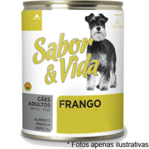 Sabor & Vida Lata Cães Adultos Frango  280g
