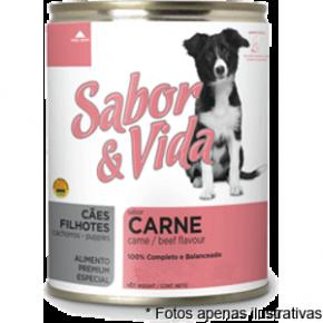 Sabor & Vida Lata Cães Filhotes Carne  280g