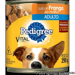 Pedigree Lata sabor Frango ao molho p/ cães 280gr