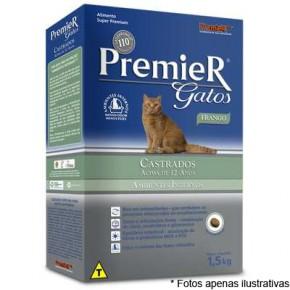 Ração Premier Ambientes Internos Gatos Castrados acima de 12 anos 1,5 kg