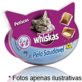 Whiskas  Petiscos Temptations Pelo Saudavel 40gr