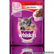 Whiskas Sache sabor Carne Filhotes p/ gatos 85gr