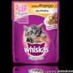 Whiskas Sache sabor Frango Filhotes p/ gatos 85gr