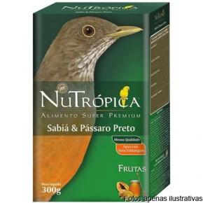 Ração Nutrópica Frutas para Sabiá e Passaro Preto  300g