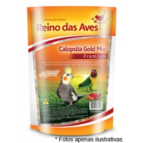 Ração Reino das Aves Calopsita Gold Mix 500g