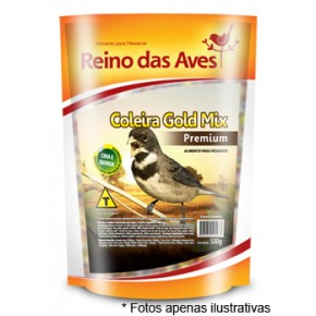 Ração Reino das Aves Coleira Gold Mix 500g