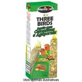 Bastão para Calopsitas e Agapornis Three Birds 60g