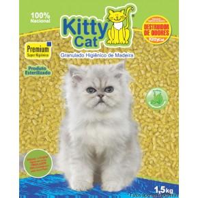 Granulado Sanitário de madeira KittyCat 1,5kg