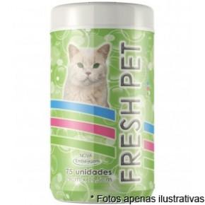 Lenços Umedecidos Fresh Pet Gatos 75fls