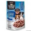 Three Dogs  Sache Filhotes Carne ao Molho 100g