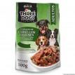 Three Dogs  Sache Carne com Legumes ao Molho 100g